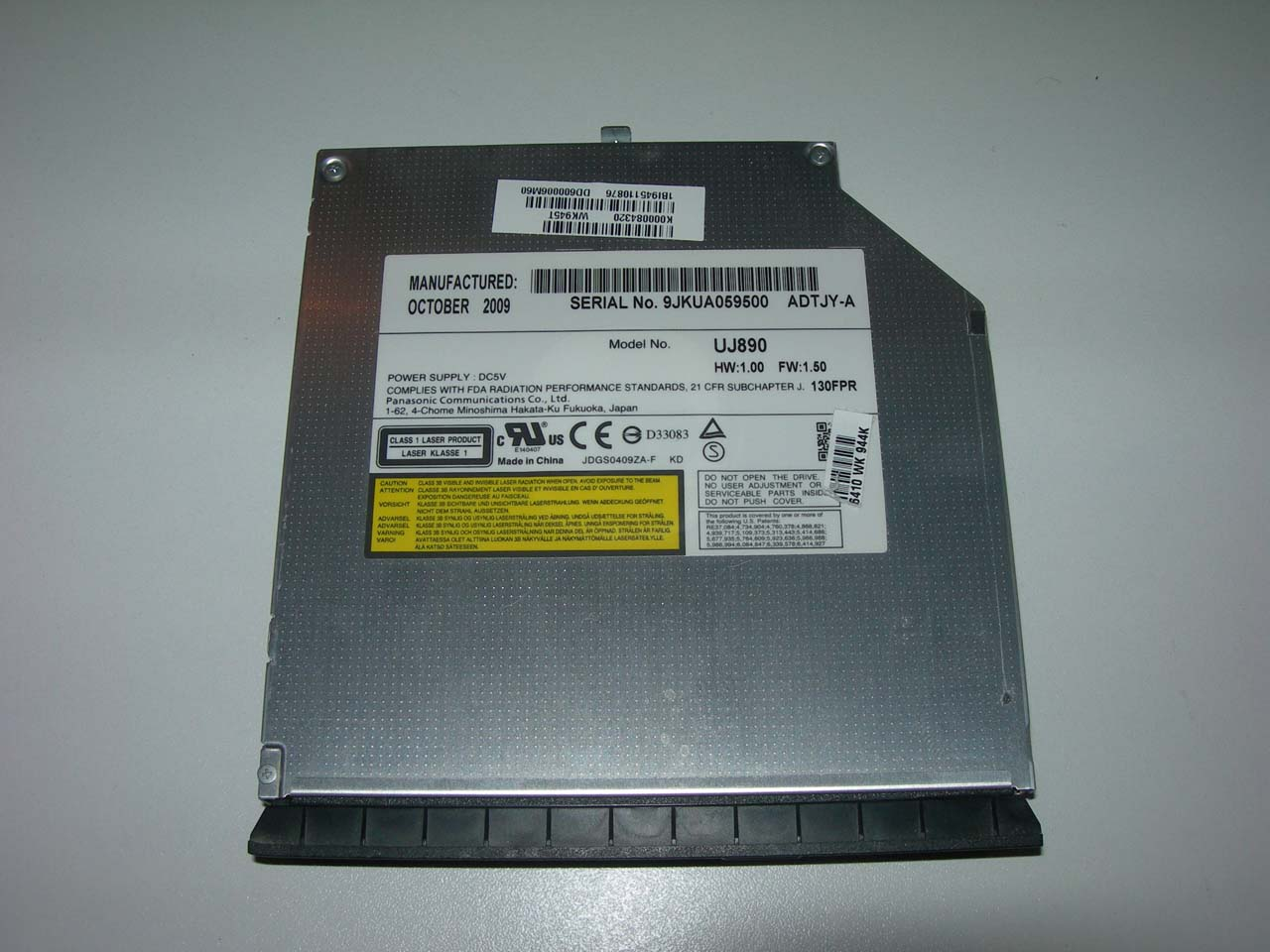 graveur dvd sata uj890 pour toshiba satellite l505 10n l505 ebay. Black Bedroom Furniture Sets. Home Design Ideas